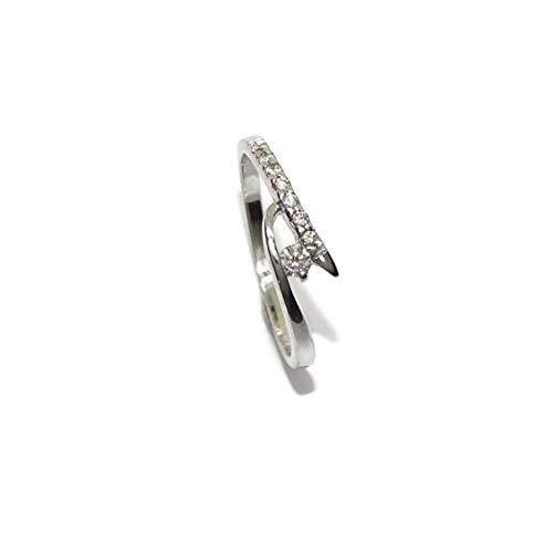 Never Say Never Sortija de Oro Blanco de 18k con Diamantes de 0.20cts de Impresionante Color H y pureza VS para tu sortija de pedida, sortija de Novia.