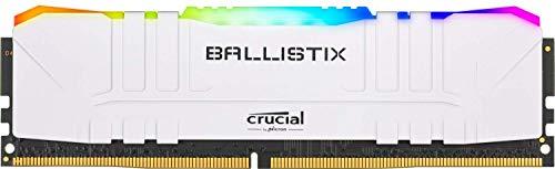 Crucial Ballistix BL8G32C16U4WL RGB 3200 MHz DDR4 DRAM Memoria de Juegos de Escritorio 8GB CL16 Blanco