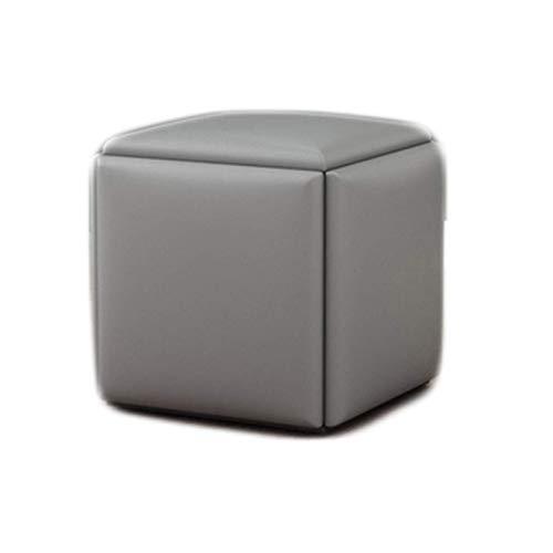 Taburete Cuadrado de Cuero multifunción Cube Chair Taburete para sofá Taburete Combinado para Sala de Estar Que Ahorra Espacio Taburete de Almacenamiento para pies con Asiento Acolchado Gr