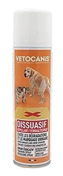 VETOCANIS Spray Repoussant, Intérieur et Extérieur, pour chien et chat, 250ml