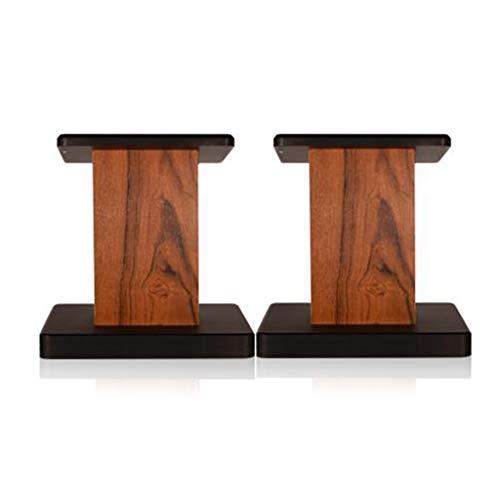 Speaker Stand Accueil Haut-parleur En Bois Support Professional Surround Speaker Stand Speaker Stand Stable Bibliothèque (Color : Brown, Size : 80cm)