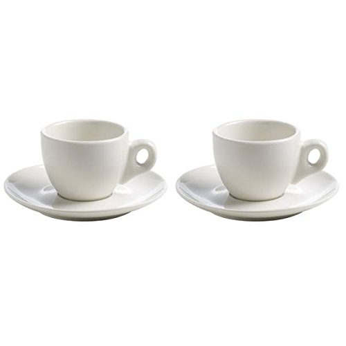 Maxwell & Williams 2er Set Espressotassen White Basics Round H. 5,5cm weiß