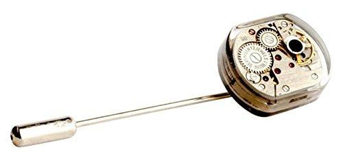 Sparks of Time Broche para mujer de plata chapada en oro 448