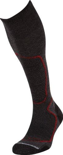 Lorpen Ski Wandersocken TCXTM Italienische Wolle leichte Socken, Unisex Herren Damen, dunkelgrau