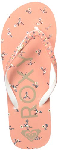 Roxy Girls' RG Pebbles Flip-Flop Sandal, Peaches, 11 M US Big Kid
