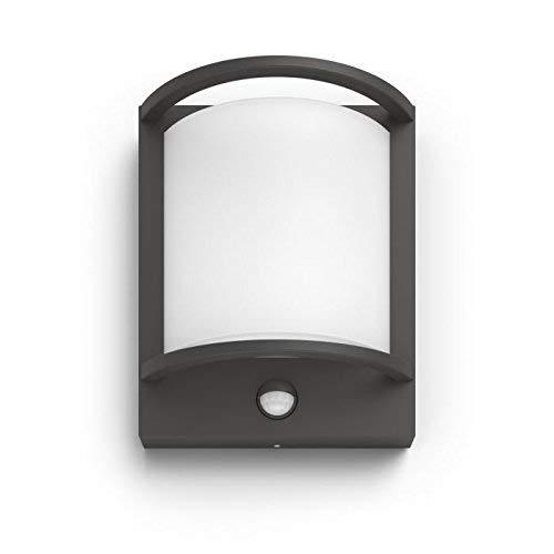 Philips Lighting MyGarden Samondra Led-wandlamp met bewegingsmelder voor buitenverlichting 12 W, antraciet, 405 x 315 x 256 mm
