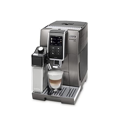 De'Longhi Dinamica Plus Perfetto ECAM370.95.T, Macchina Automatica per Caffè in Chicchi, 1450 W, Sistema LatteCrema per Cappuccini Automatici, 1.8 L, Colore Titanium
