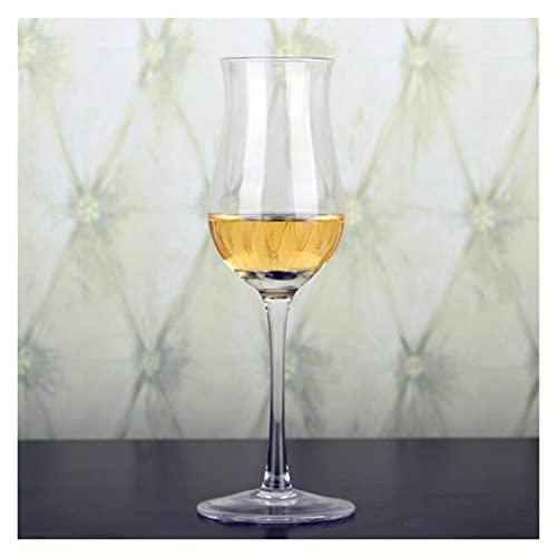 Broccoli21 Helado Scoop 100-200ml Copa de degustación de Whisky Vidrio sin Plomo Vidrio Vidrio de Vidrio Rojo Vidrio Vidrio Sommelier Especial Taza Copa Olor Taza Cuchara (Color : Clear115)