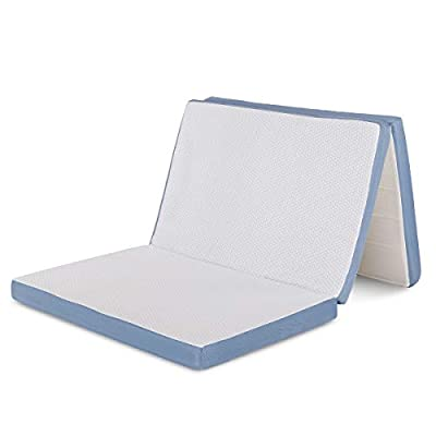 Comfort & Relax Tri-Fold Memory Foam Mattress - Removable Cover