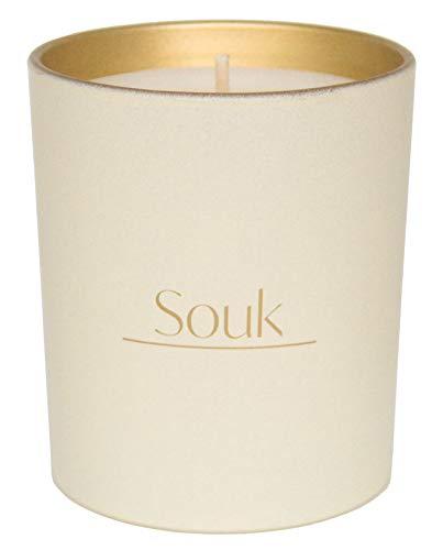 Aris Luce Kerze inspiriert von Souk, 270 g, hergestellt in Großbritannien, Brenndauer über 40 Stunden, würziger und holziger Duft.