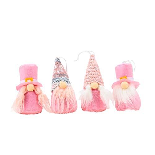 Muñeca sin rostro 4 piezas de juguete de felpa decoración de elfo muñecos de peluche hechos a mano decoración de muñecas de dibujos animados regalo de San Valentín hecho a mano para niños adultos