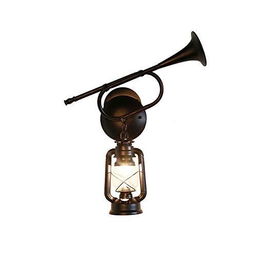 Towero Lautsprecher Wandlampe kreative Persönlichkeit Eisen Lighting klassische Antike Petroleumlampe hängende Glaswandlampe Vintage Wandleuchte