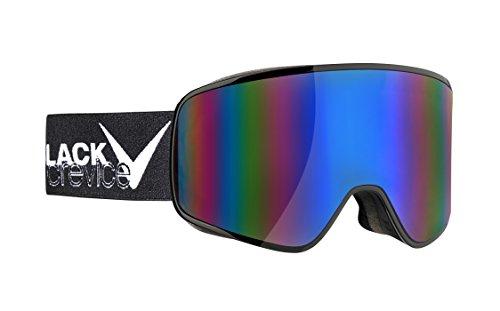 Black Crevice Erwachsene Skibrille, Planai, schwarz/weiß