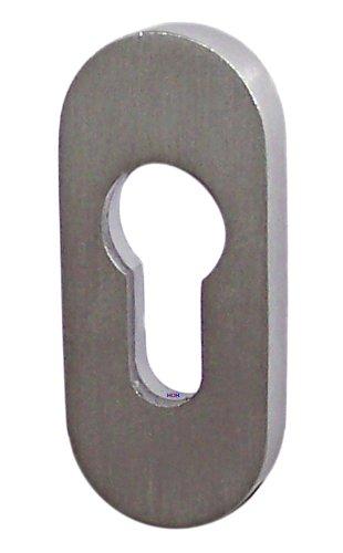 Edelstahl Schutzrosette SR-5241 Oval Schieberosette Profilzylinder Türbeschlag