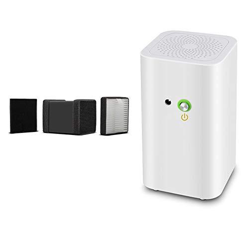 ZMING Kleiner Desktop-Autoluftreiniger, Home Office Mini, außer gebrauchter Rauchluftfilter (Farbe: Weiß) (Size : A)