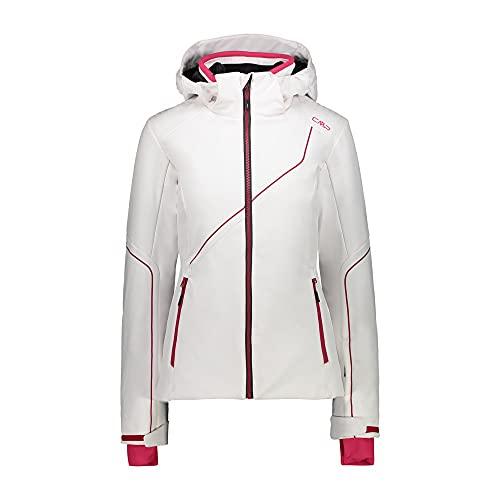 CMP Hoodie Damen Skijacke Softshell Full Zip Weiß 34
