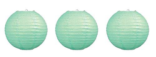 Beistle 3 Piece 9.5' Paper Lanterns, Mint Green