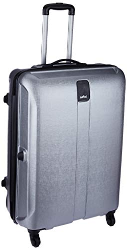 Safari Thorium Stubble 66 Cms Polycarbonate Silver Check-In 4 wheels  Hard Suitcase