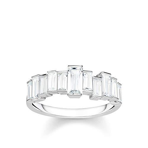 Thomas Sabo Damen-Ring Weiße Steine Baguette-Schliff 925 Sterlingsilber TR2269-051-14-54