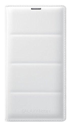 Samsung BT-EFWN910BW - Funda tipo flip con soporte de tarjeta para Samsung Galaxy Note 4 N910F, color blanco- Versión Extranjera