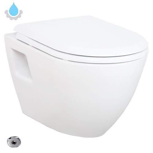 Hänge Dusch WC Taharet Bidet Funktion Toilette Aloni mit Schlauch & Deckel