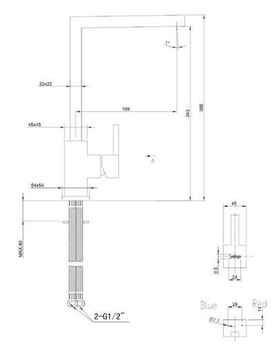 Sanlingo – Küchenarmatur aus Edelstahl mit 360° Schwenkauslauf - 3