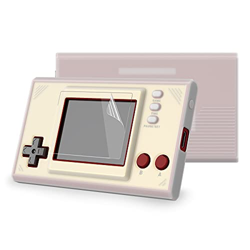 PlayVital Semi-Transparent Clear Silicone Cover Protective Case Skin for Nintendo Game & Watch: Super Mario Bros w/ 2 Pcs Screen Protectors