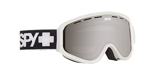 Spy Optic Woot Snow Goggles, One Size (Matte White Frame/Silver Mirror + Persimmon Lens)