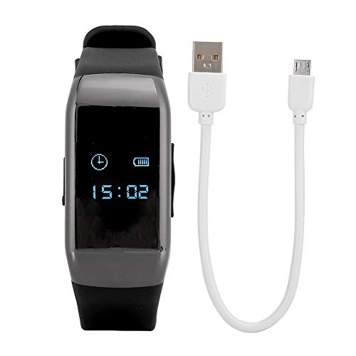 HD 1080P Kamera Armband Uhr Digital Audio Voice Recorder Armband Rauschunterdrückungsrekorder mit Akku mit großer Kapazität(64 GB)