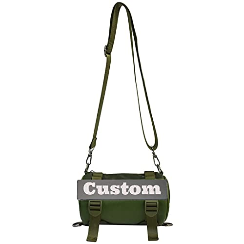 Nome personalizzato Ragazzi Satchel Spalla Messenger Bag Strap Piccolo Viaggio Nylon Crossbody, Verde, Taglia unica,