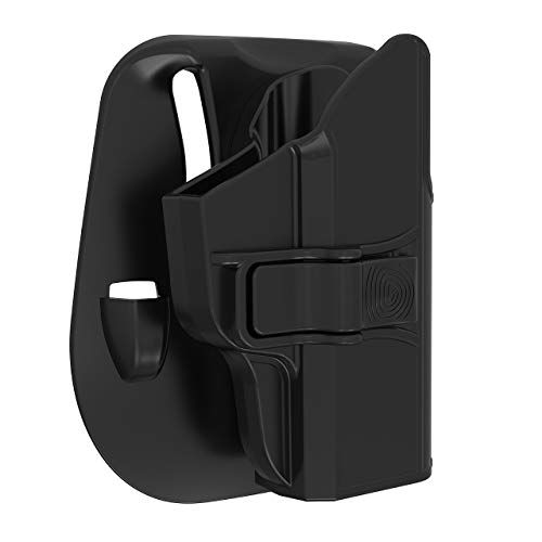 OWB Holsters Compatible with Sig P365, Adjustable Paddle Holster for Sig Sauer P365 9mm Pistol, Polymer Outside Waistband Open Carry Belt Holsters with Full Cover Trigger Index Finger Relase, RH