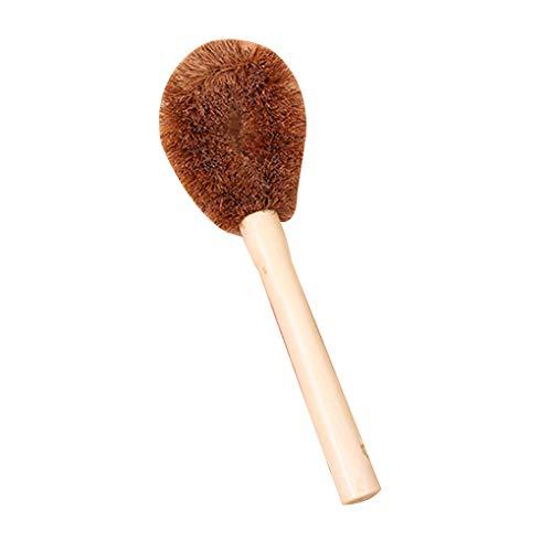 NAYUKY Cepillo de Lavado de Olla de Mano Larga de Fibra de Coco para Limpieza de Cocina/descontaminación Cepillo de tazón de Aceite Antiadherente
