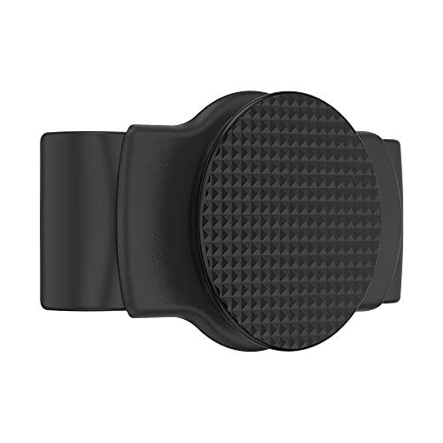 PopSockets: PopGrip Slide Stretch - Un Soporte y Agarre Sin Adhesivo para tu Teléfono Móvil. El PopGrip es Intercambiable y Funciona Solamente con Carcasas/Fundas Redondas - Knurled Texture Black
