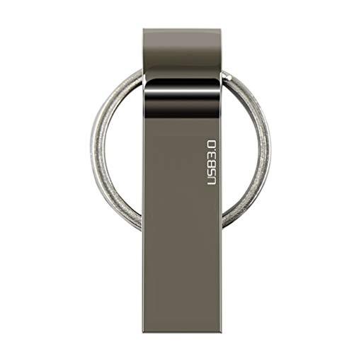 WXZQ Unidad Flash USB de Metal 256GB 128GB 64GB 32GB 16GB 8GB 4GB Disco Flash Pendrive Memory Stick USB 3.0 Flash USB Stick Pen Drive Gris Plateado 4GB