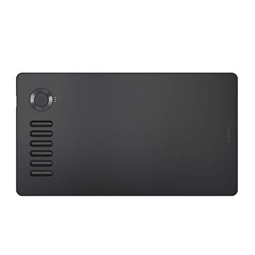 Tableta gráfica de Dibujo VEIKK A15 Pro Tableta de Dibujo Digital de 10 x 6 Pulgadas con 12 Teclas de Acceso rápido y un dial rápido (lápiz óptico sin batería de Nivel de presión 8192) (Gris)