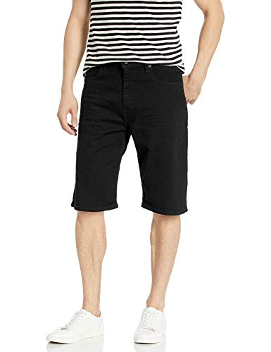 Levi's Men's 569 Loose Straight Denim Shorts, Black/Black 3D, 36