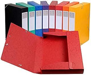 Exacompta - Réf. 19500H - Lot de 10 boites de classement livrées àplat - carte lustrée - Dos 5 cm - format A4 - 21x29,7cm...