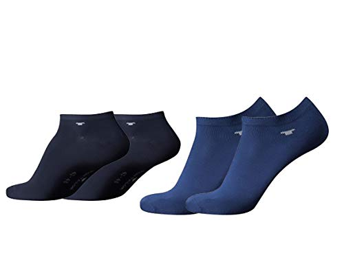 TOM TAILOR Sneaker Socken Herren Damen 4 Paar unisex Sportsocken 35-38 39-42 43-46 (blue depth,...