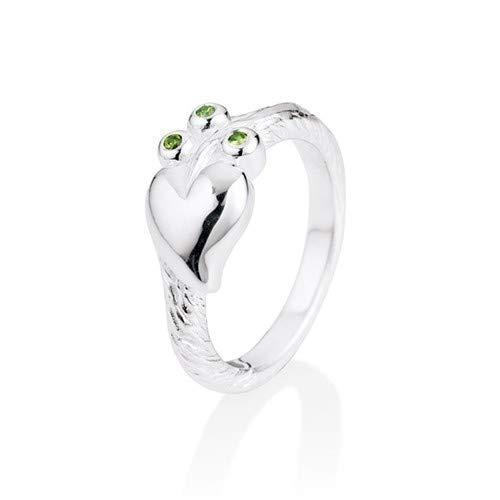 Heartbreaker Vrouwen 9 k (375) Zilver Tapered Baguette Zirkoon Ringen