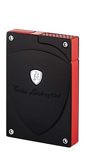 Tonino Lamborghini Feuerzeug Lynx schwarz- rot inkl. Lifestyle-Ambiente Tastingbogen