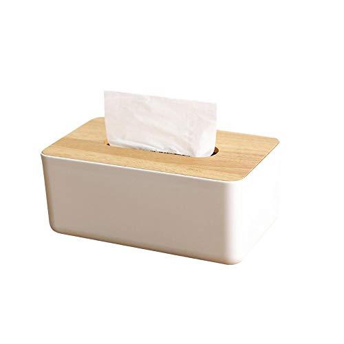 Boîte à mouchoirs rectangulaires en bois écologique pour cosmétiques