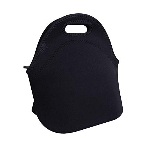 Aigemi Neoprene Lunch Bag Insulated Lunch Tote Bags Boxes for Adults Men Women Nurses (Black)
