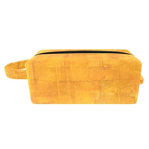 Neceser de Maquillaje Estuche Escolar para Cosméticos Bolsa de Aseo Grande,Pigmento Amarillo