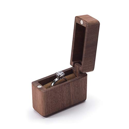 JOYKK Houten Ring Bearer Box Bruiloft Verloving Ring Houder Doos Sieraden Doos Favor Gift