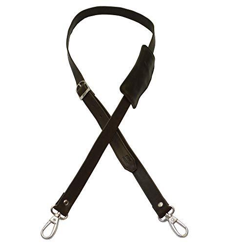 flevado t Riemen Gurt Lederriemen für Taschen Handtasche Umhängetasche in 3 Farben wählbar (Schwarz)
