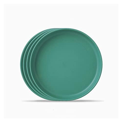 QINGGANGLING999 Vajilla Completa 5.71 Pulgadas de plástico con Platos Redondos Cena Conjunto de 4 pastas de Ensalada Postre y Platos de Frutas para el Restaurante Cocina Familia Vajilla
