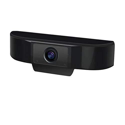 Solustre Webcam HD 1080p com microfone embutido, USB 2.0, câmera on-line para computador, webcam para PC, desktop, laptop, rede (preto)