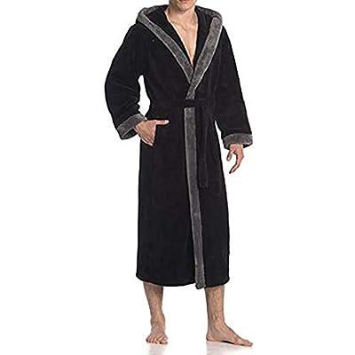 Lissom Women's Winter HoodedLengthened Long Sleeved Plush Shawl Bathrobe Slee