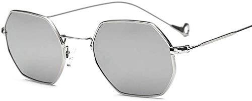 NIUASH Sonnenbrille polarisiert Klassische weibliche Sonnenbrille Individualität Brille Damen Sonnenbrille Fahrspiegel Star Style Eyewares Octagonal Design-8