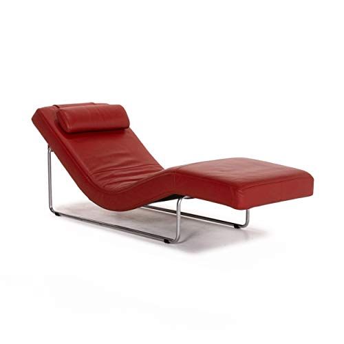 Rolf Benz 680 Leder Liege Rot Relaxliege Funktion Relaxfunktion #13625